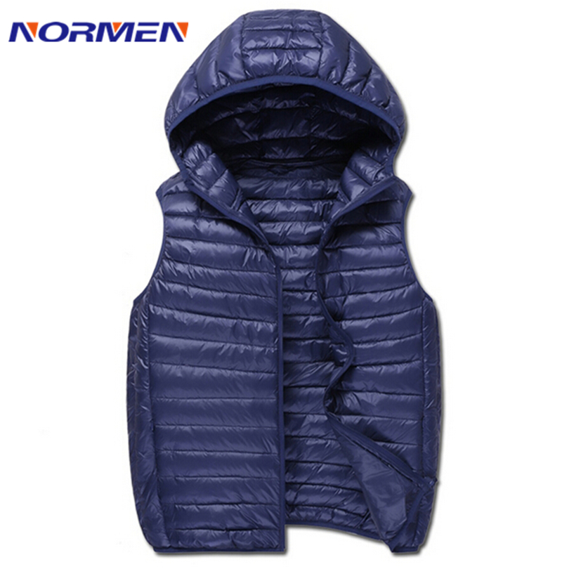 Prepare For 2016 Spring Men's New Brand Solid Casual White Duck Down Vest Fashion Style Light Sleeveless Unisex Vest For Lovers(China (Mainland))