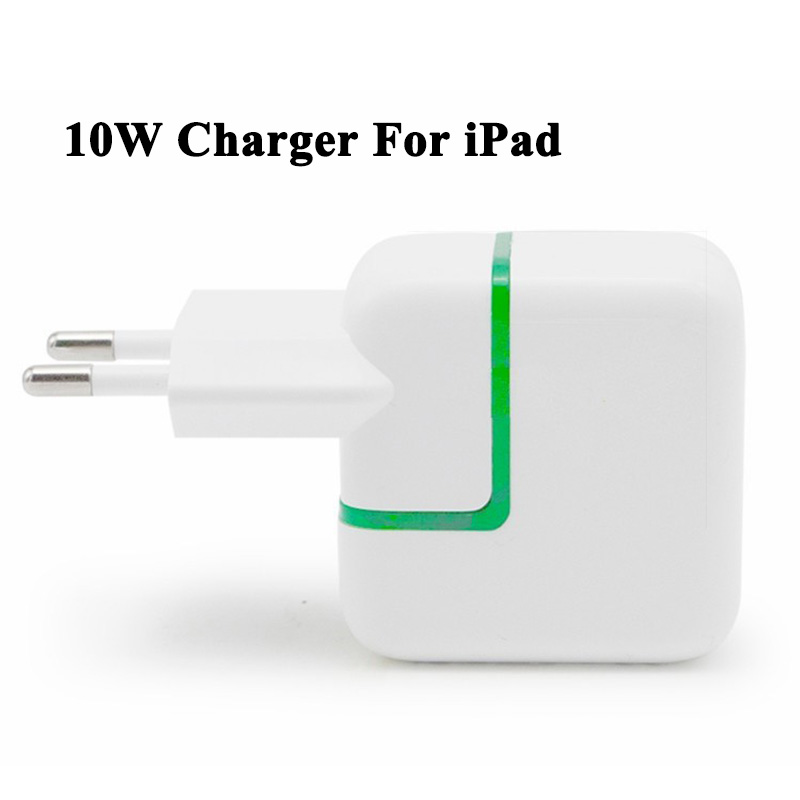 10W USB Power Adapter Charger for iPad Mini Air Green Led Indicate Euro Travel Charger for iPhone 6 6s Mobile Phones and Tablet(China (Mainland))
