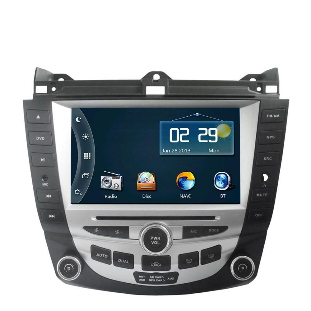 "8"" HD Car DVD Player GPS Navigation System for Honda Accord 2003 2004 2005 2006 2007 Dual zone Climate Control Radio Bluetooth(China (Mainland))"