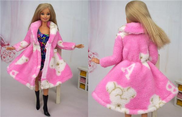 Как сделать куклам барби пальто