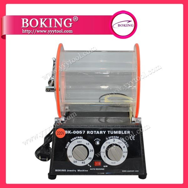 Jewelry finishing tools Rotary tumbler polishing machine with 5kg capacity Rotary Rock barrel polisher 220V FREE SHIPPING(China (Mainland))