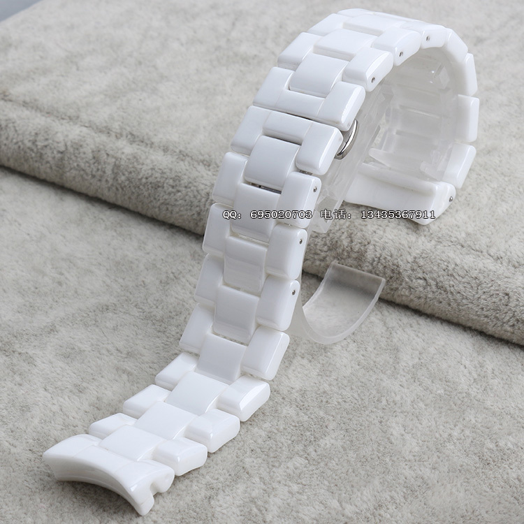 22MM White Ceramic Strap Band Belt Bracelet Silver Butterfly Watch Buckle Clasp For AR1400 1425 1426 1410<br><br>Aliexpress