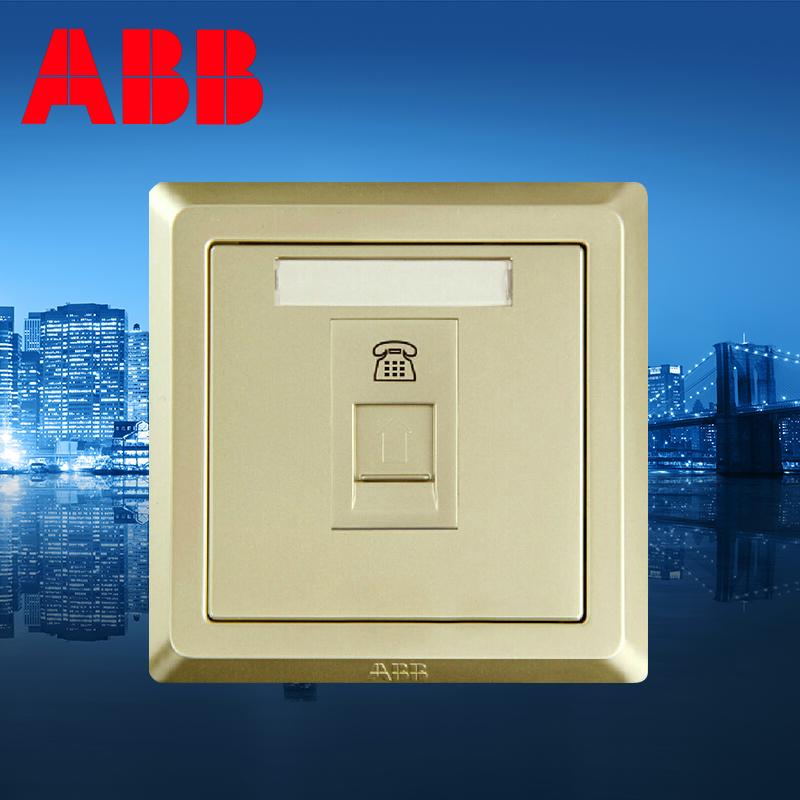 2pcs/lot ABB switch socket pearl gold a telephone socket DS Yat AE321-PG<br><br>Aliexpress