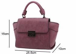 Nubuck Leather Women Retro Hand Bag Trendy Fashion Ladies Succinct Plain Handbag Ladies Designer PU Leather Crossbody Bag