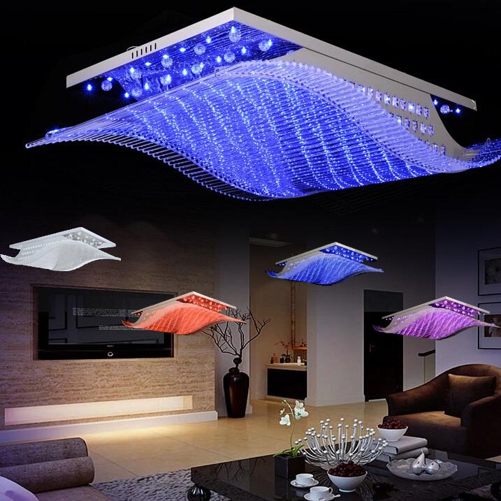 Modern Crystal Chandelier LED Color Change With Remote Control Organ Style RG -> Led Deckenleuchte Modern
