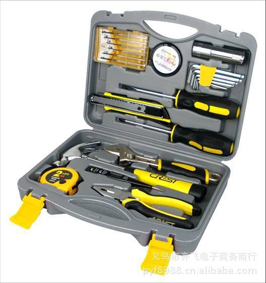 22PC tool claw hammer tape measure home daily Screwdriver Hardware Portfolio Tools(China (Mainland))