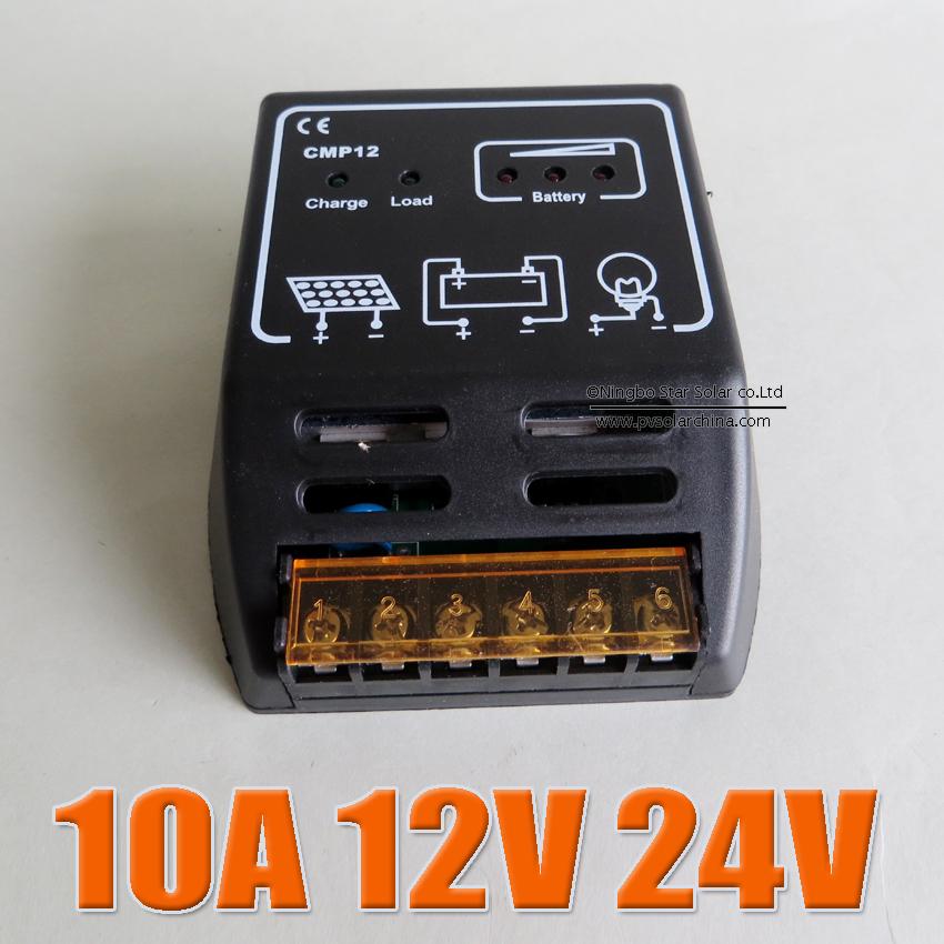 10A CMP12 12V 24V intelligence Solar cells Panel Battery Charge Controller Regulators(China (Mainland))