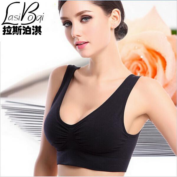 Cheap new 2016 Miss sexy fat seamless underwear women's single-bra vest design accept plus size thin sports wireless push up bra(China (Mainland))