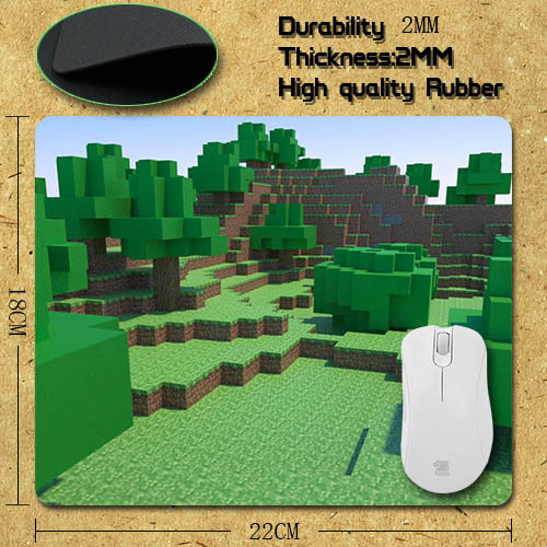 Гаджет  2015 hot high quality  Best selling  for Personalized Minecraft Rectangle Non-Slip Rubber Gaming Mouse Pad C-pad0353 None Компьютер & сеть