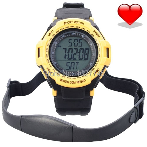 2015 new hot Wireless Heart Rate Monitor Step counting, calorie, Sport Waterproof Fitness Watch with Pedometer for Runningipping(China (Mainland))