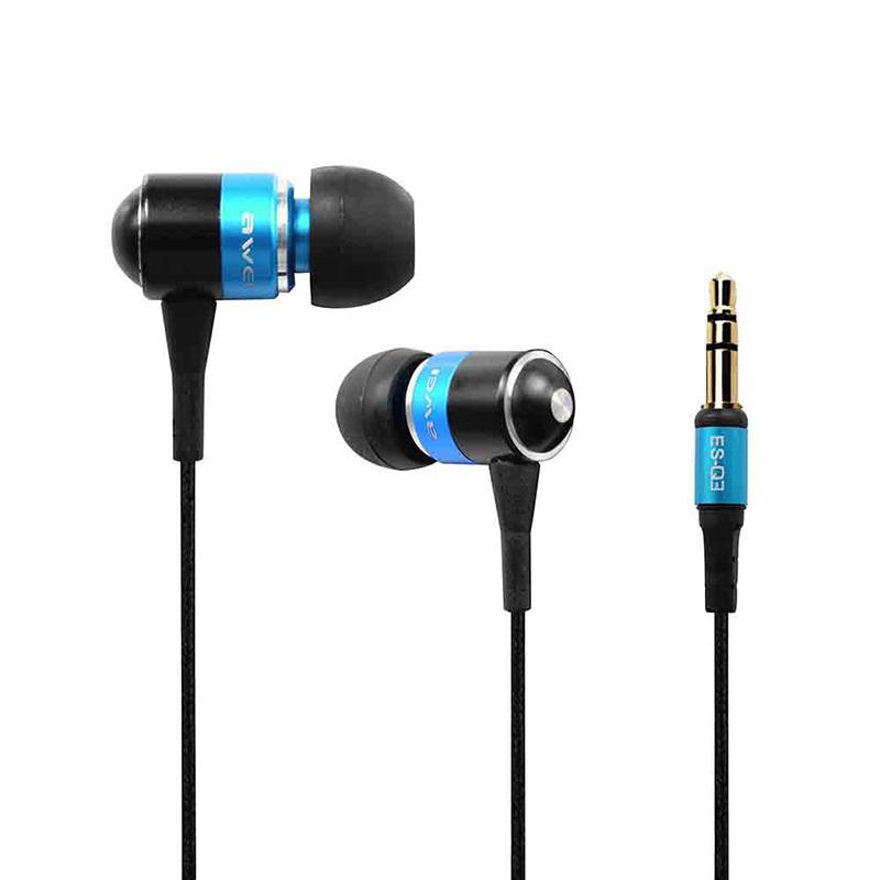 Оригинал AWEI ES Q3 шумоизоляция наушников в-ухо стиль наушников для телефона MP3 / MP4 игроки 3.5 мм разъем
