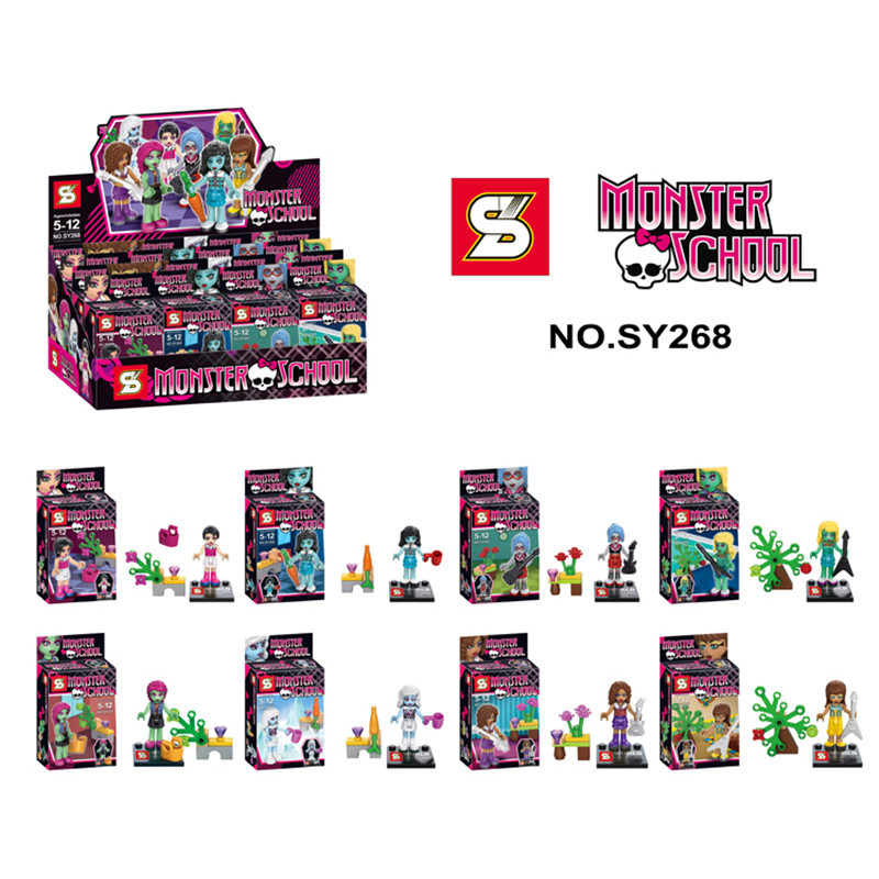 SY268 Monster Doll High School Draculaura Frankie Stein Minifigure Building Blocks Brick Toy BABY TOY FREE SHIPPING<br><br>Aliexpress