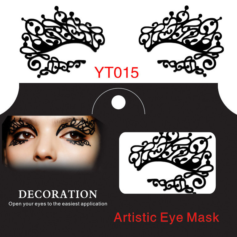 Fashion eye stickers new artistic eye mask hollow face lace eyelashes eyes make up items party essential product 10 pairs/lot<br><br>Aliexpress