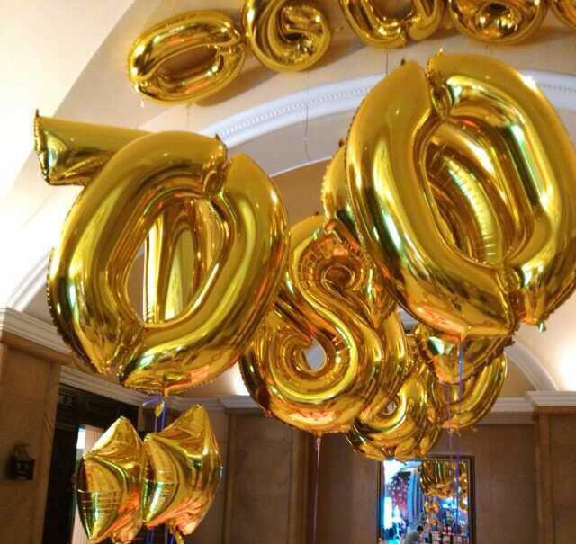 1pcs 40 Inch Gold/Silver Number 0-9 Aluminum Foil Balloons Digital Birthday Wedding Party Decorations Numbers Ballon(China (Mainland))
