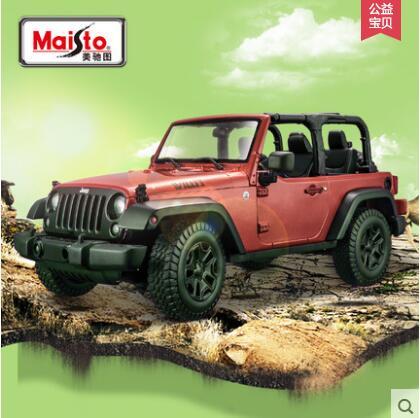 New JEEP Wrangler Willis 1:18 Maisto car model SUV boy gift Collection Convertible alloy World War 2 original(China (Mainland))