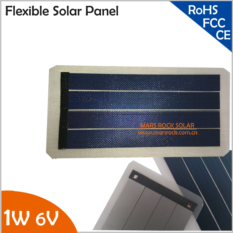 1W 6V Flexible Solar Panel with High Efficiency<br><br>Aliexpress