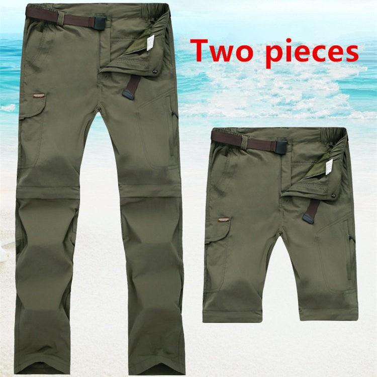 Senderismo Pantalones, Çıkarılabilir Açık Yaz & Bahar Hızlı Kuru Pantolon Erkek kadınlar Yürüyüş Tırmanma Kamp Pantolon, Softshell Pantolon