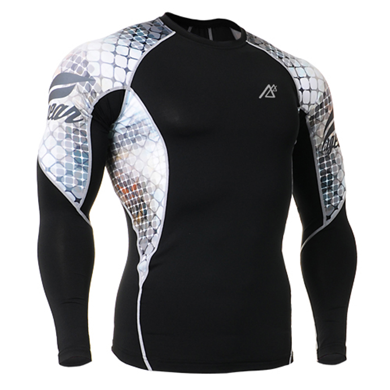 Men s Long Sleeves High Quality Compression Skin Tight Gym Wear Outdoor Sports Training Fitness Sportswear