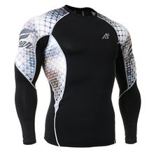 Men's Long Sleeves High Quality Compression Skin Tight Gym Wear Outdoor Sports Training Fitness Sportswear Bodybuilding T-Shirts
