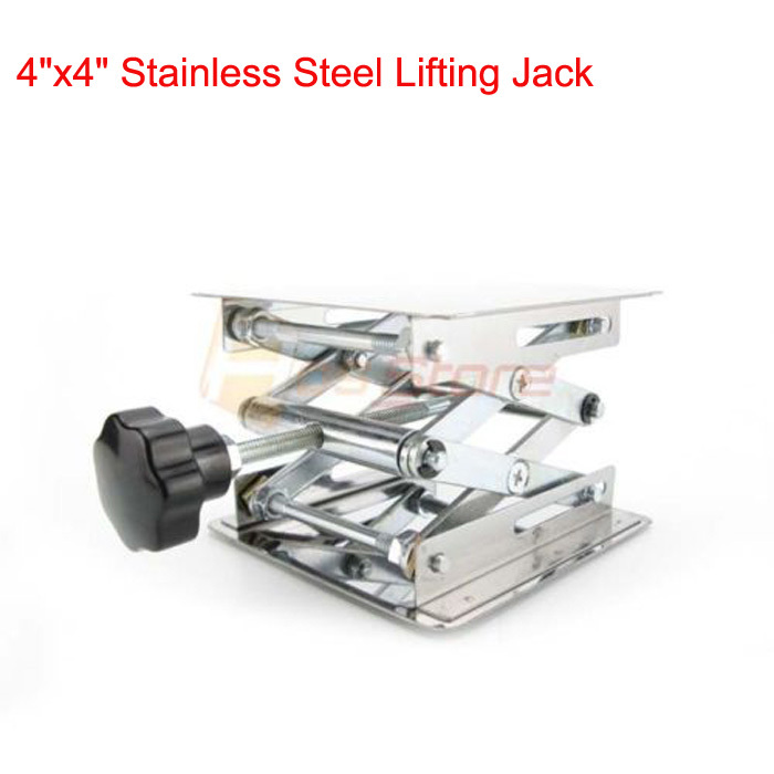 "Free Shipping 4"" Stainless Steel Lab Stand Table Scissor Lift laboratory Jiffy Jack 100*100mm Laboratory Equipment(China (Mainland))"