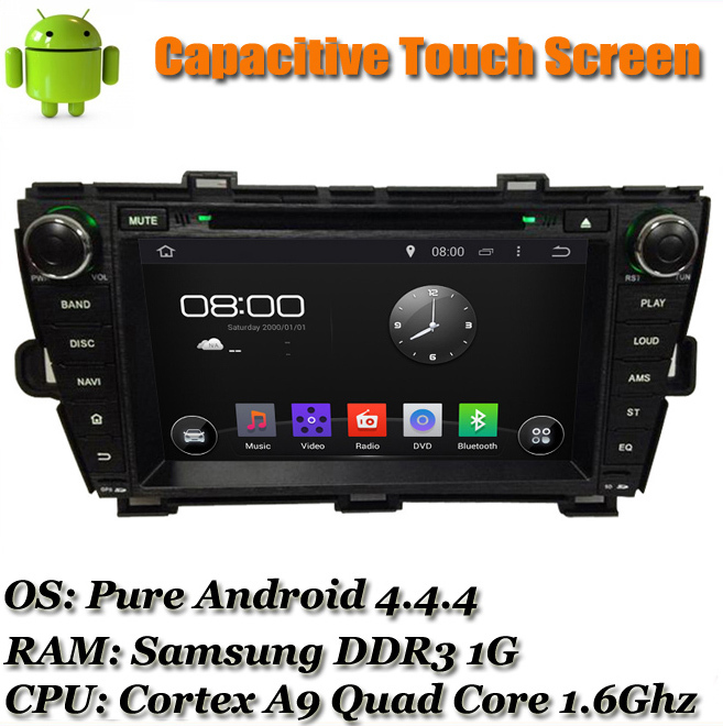 """8"""" 1024*600 Capacitive touchscreen Android 4.4 For Toyota Prius 2009 2010 2011 2012 2013 Car Radio DVD GPS Navi Mirrorlink WIFI(China (Mainland))"""