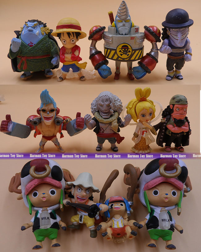 12pcs/lot 4-5CM original high quality random send Japanese anime mini figure one piece action figure set kids toys for boys(China (Mainland))