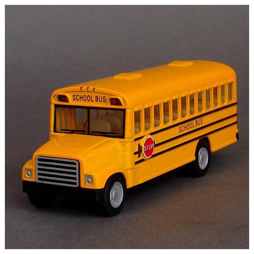 Toy school bus schoolbus side WARRIOR alloy car model