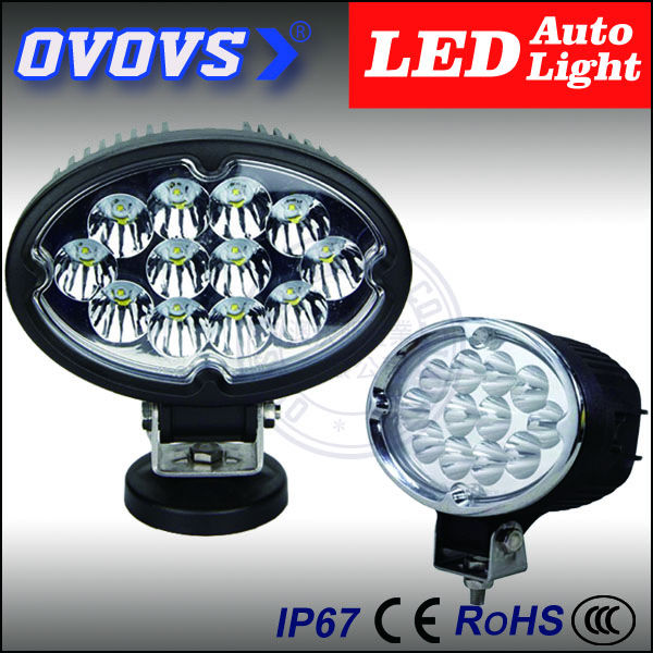 OVOVS oval cheap high quality black silver ring 12v 36w work light led for truck 4x4 atv suv offroad(China (Mainland))