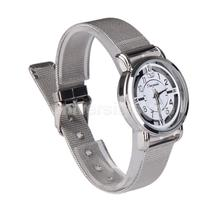New Minimalism Women Fashion Stainless Steel Mesh Band Analog Wrist Watch  CA1T