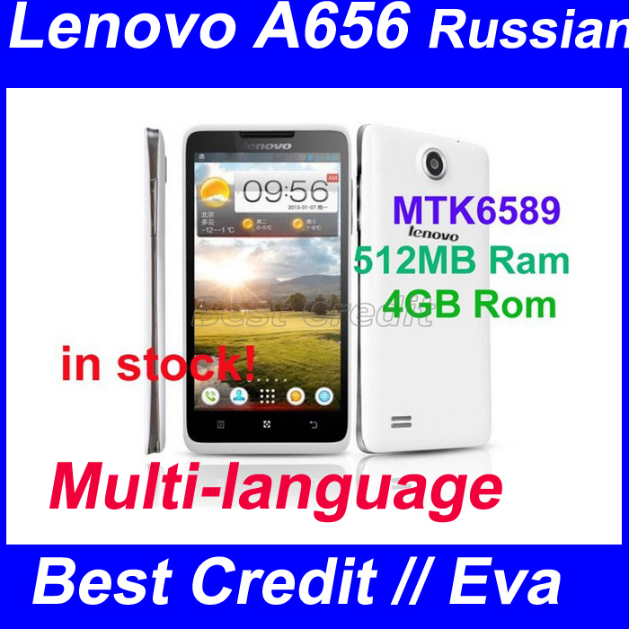 "in stock Original Lenovo A656 phone mtk6589 quad core 5.0"" 512MB Ram 4GB Rom android phone 5.0MP 3G dual sim mobile phone/ Eva(China (Mainland))"