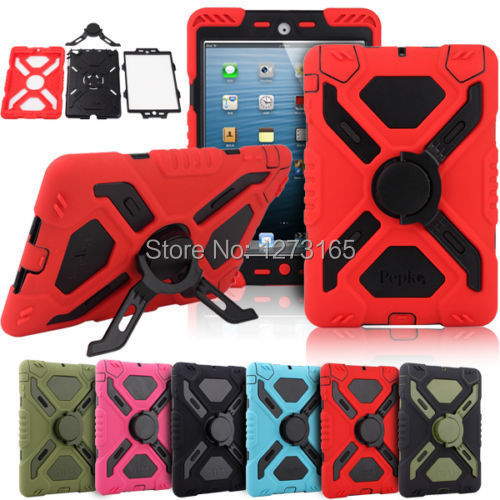 Pepkoo Spider Extreme Military Heavy Duty Waterproof Dust/Shock Proof with stand Hang cover Case For iPad 2 3 4(China (Mainland))