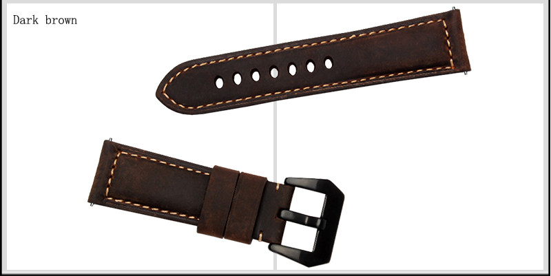 Genuine Leather Watchband 22mm For Pebble Time Steel Smart Watch High Quality Scrub Leather Strap Bracelet