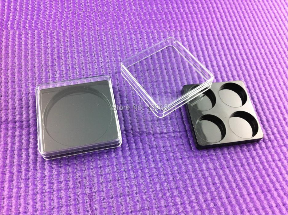 4 Compartments Square Eyeshadow Container, Cosmetic Powder Box, Empty Eye shadow Box, Eye Shadow powder box, 50pc/Lot(China (Mainland))