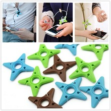 Cute Multicolor Soft Silicone Darts Star Key Cord Winder Cable for Headphones Earphone Headset Cord Holder Manager Organizer