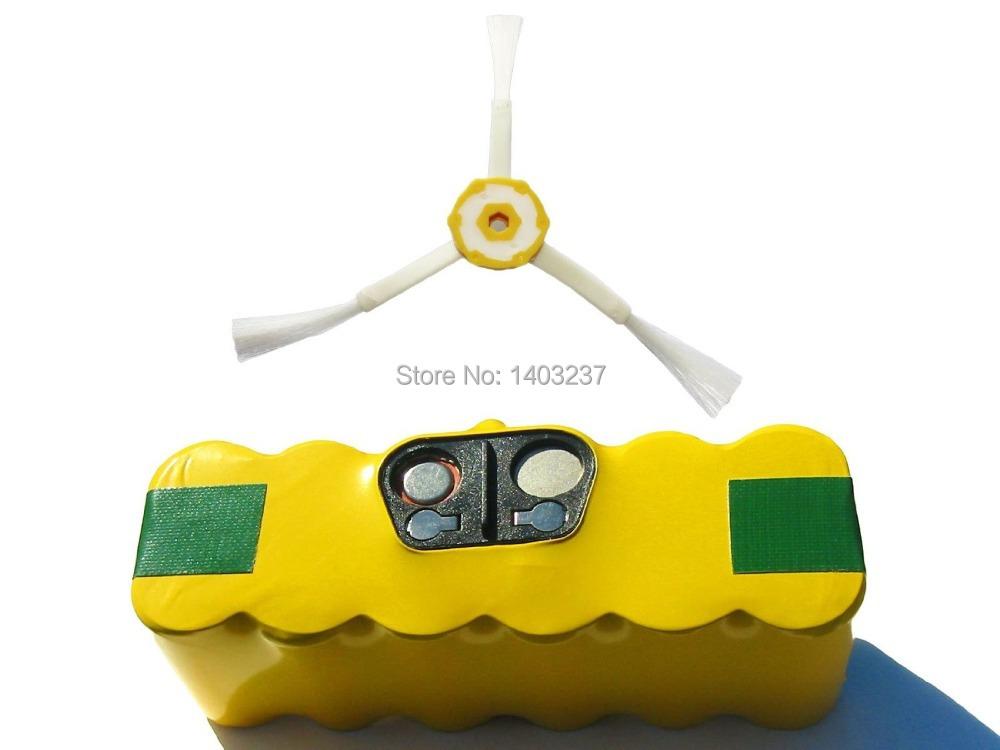 3500mAh, 14.4V, NI-MH For 780 iRobot Roomba 595 Pet Series Vacuum Cleaner Accessory 1 High Capacity Battery 3-Arm Side Brush(China (Mainland))