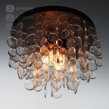Modern European simple luxury restaurant ceiling light American retro lamp crystal glass ceiling lamps(China (Mainland))