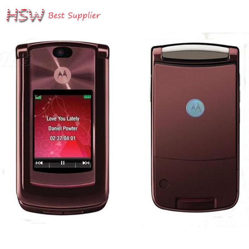 "100% original Motorola RAZR2 V9 Original Unlocked 2.2"" 3G 2GB 2.0MP GSM WCDMA Flip Cellular Phone(China (Mainland))"