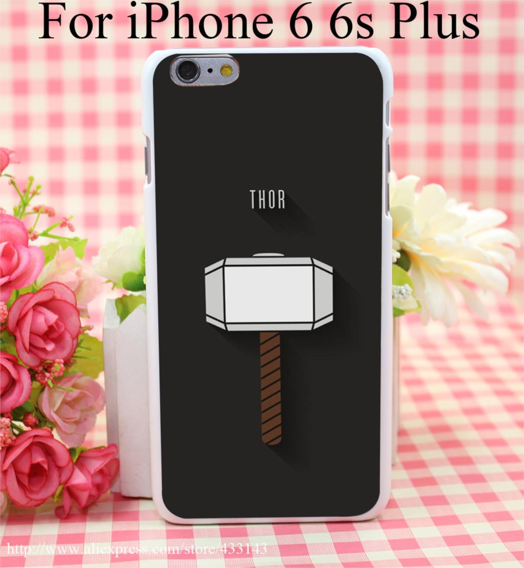 The Avengers THOR Logo Hard White Cover Case for iPhone 4 4s 5 5s 5c 6 6s Protect Phone Cases(China (Mainland))