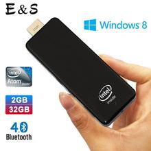 MeegoPad T01 Intel Stick Windows 8.1 System 64 Bit CPU Intel 2G RAM 32GB Storage Box Mini PC DHL Free shipping(China (Mainland))