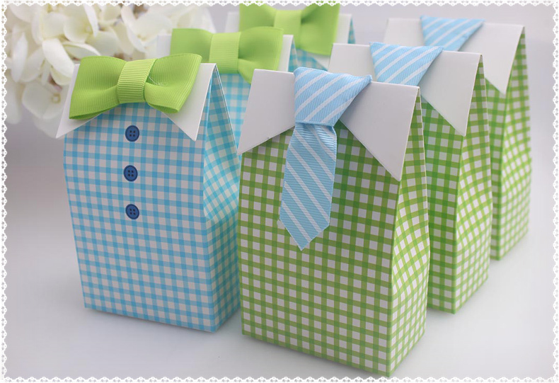 tie wedding gifts boxes baby shower favor box party cupcake cake box