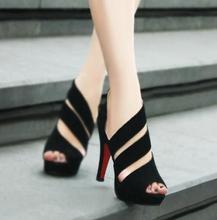 Open toe shoe women's sandals summer gladiator platform thin heel high-heeled shoes women's shoes