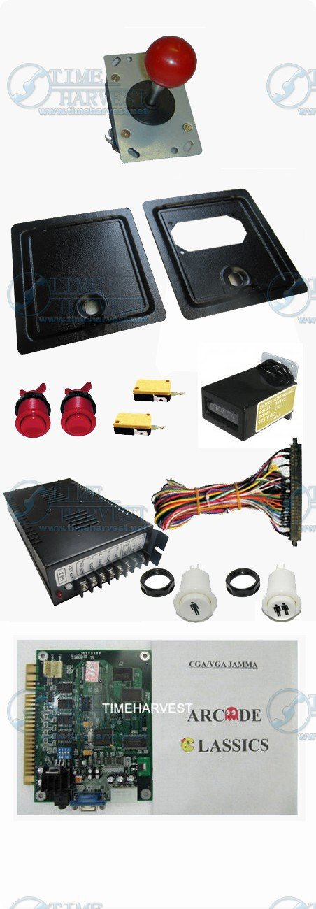 Arcade parts Bundles kits With Joystick Push button Power supply Coin door Jamma harness to Build Up Arcade Machine By Yourself(China (Mainland))