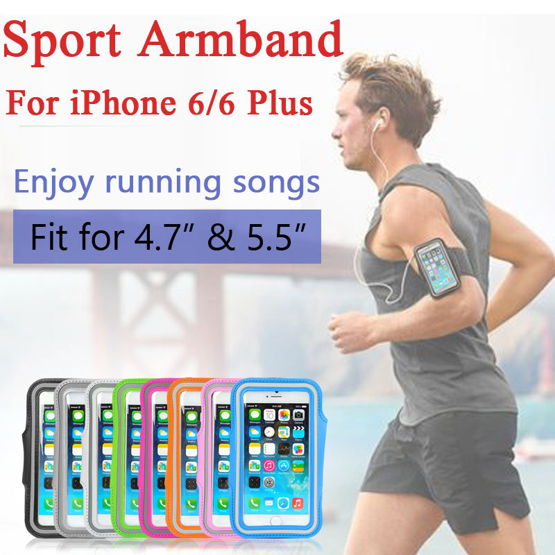 wholesale 10 pcs/Lot Workout Phone Cover Gym Running Sport Arm Band Protective Cover Case For iPhone 6 Plus 5.5 for iPhone6 4.7(China (Mainland))