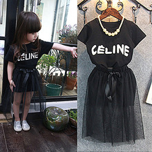 2015 New Summer Casual Minnie Girls Clothing Sets Bow Baby Girl Clothes Short Coat + Tutu Skirt Suit Children Clothing Set