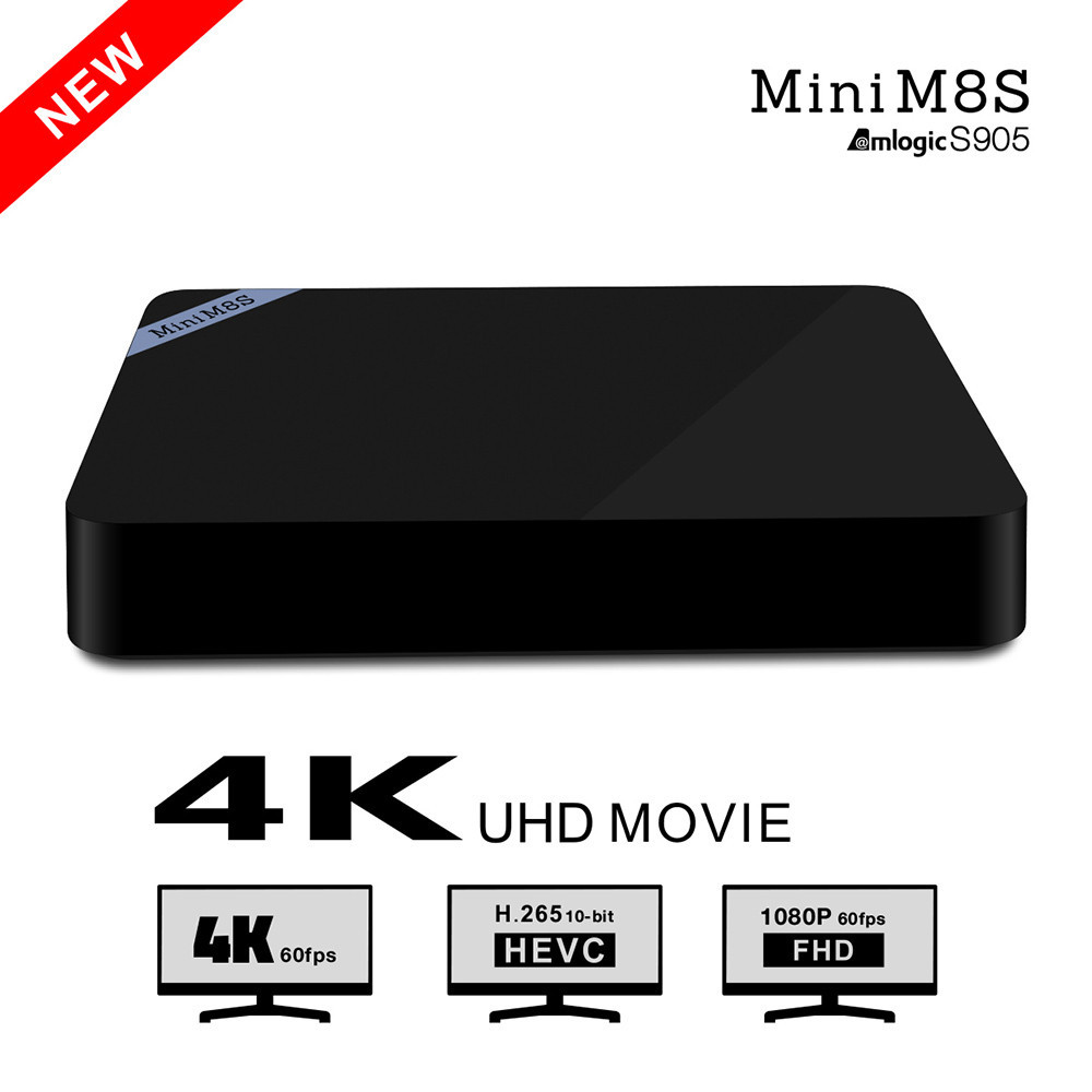3PC Newest Mini m8s Amlogic s905 Android 5.1 support 4K H.265 2GB/8GB Bluetooth 4.0 100M 2.4G wifi(China (Mainland))