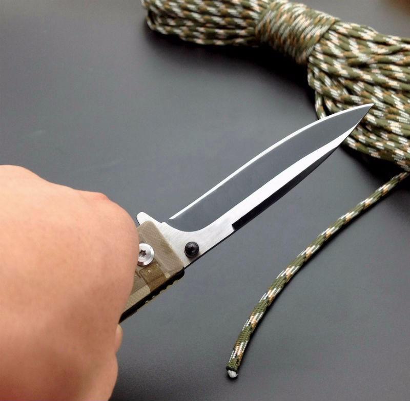 Buy 420J2 Blade New Folding Knife Titanium Coating G10 Handle WM-Boker Pocket Survival Knifes Hunting Camping Knives Outdoor Tools 4 cheap