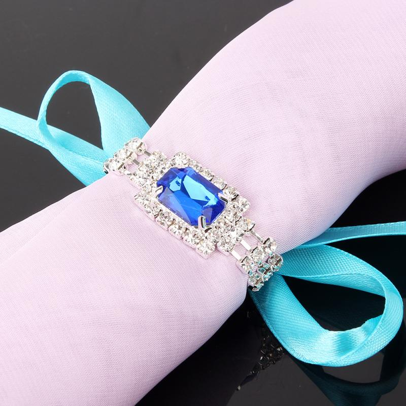 Napkin rings silver chain bridal wedding party supplies decorative napkin practical good looking package