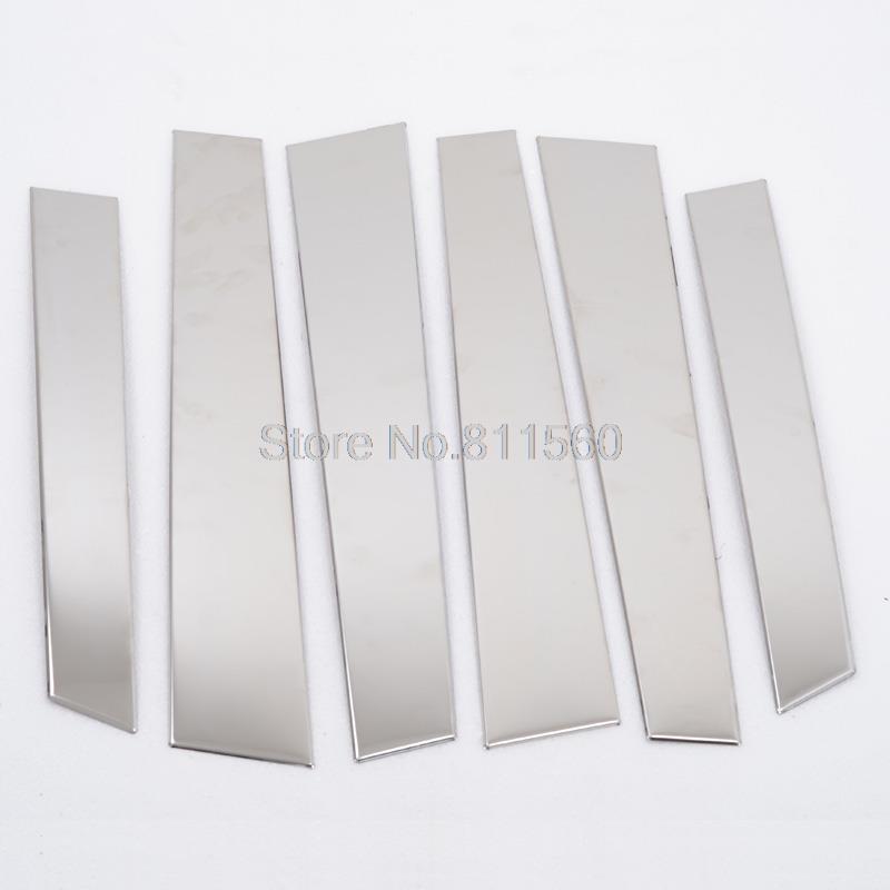 Fit Honda CRV CR-V 2007-2011 Stainless Steel Window Trims Center Pillar Pillars Cover Trim