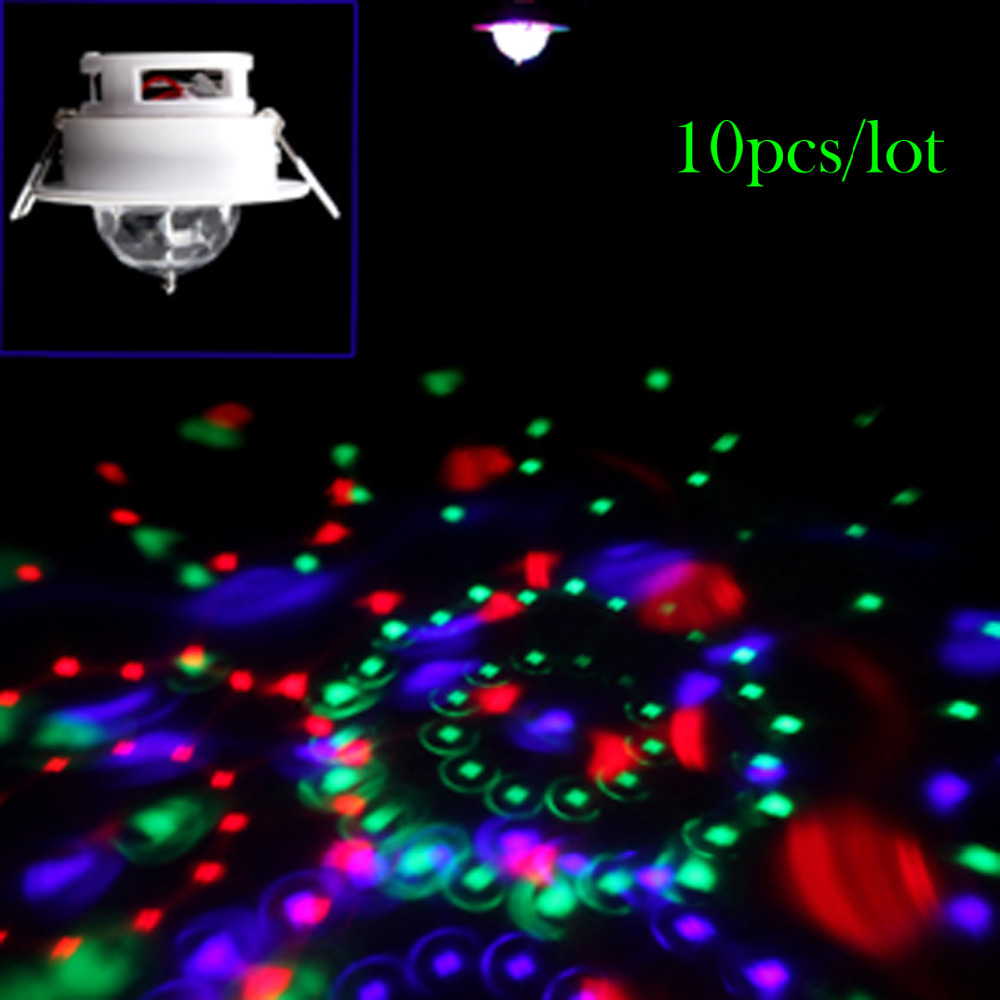 10pcs/lot 3W Full Color LED Active Rotating Ceiling stage light (AC110-220V)<br><br>Aliexpress