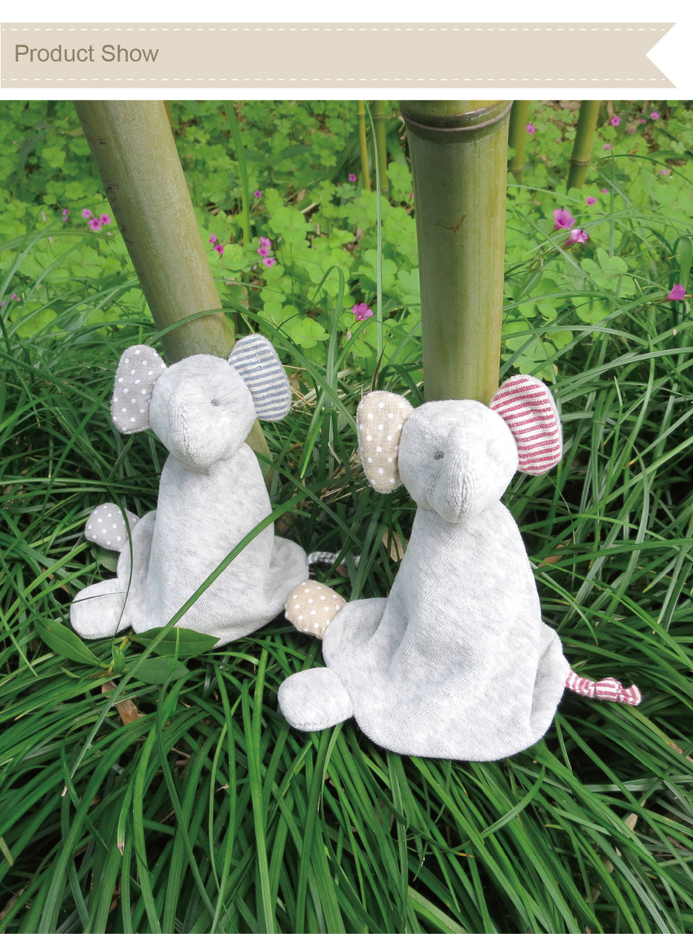 Discount 14cm high quality 100% hand-made gray elephant baby doll,cotton linen Eco material ,plush toys for birthday party gift(China (Mainland))